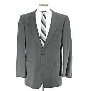 Hickey Freeman Boardroom Grey 44L Sport Coat